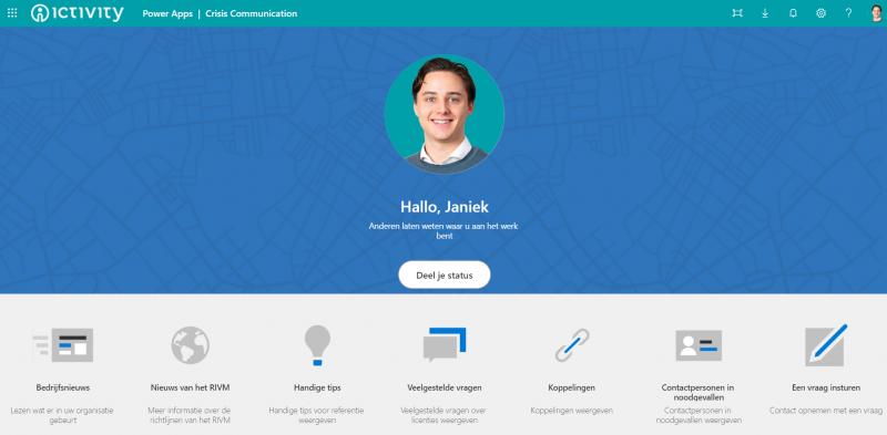 Crisis Communicatie App: status delen