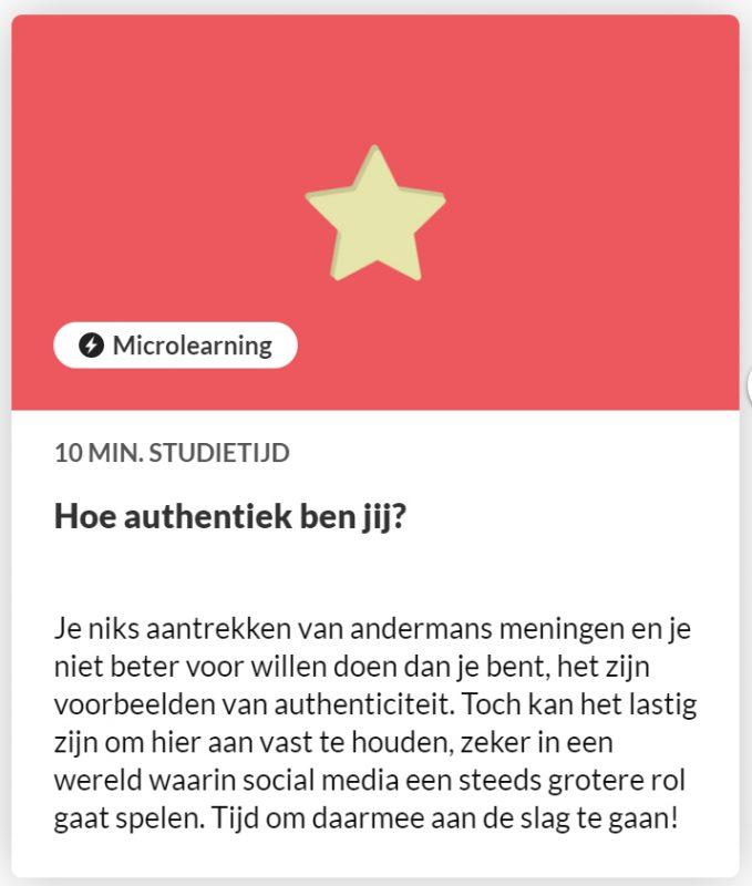 Nieuwe leermodule in KennisHub: hoe authentiek ben jij?