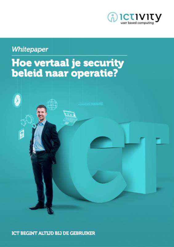 Whitepaper cover Security beleid - Ictivity